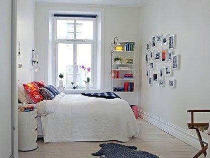 卧室采用了几乎纯白色作为空间基调,却并不显得单调乏味