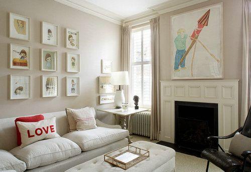 壁炉不仅能隔开大片的白色色块,增加颜色的层次,还能为房子的童话气息锦上添花