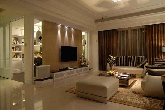 客厅瓷砖铺贴效果图