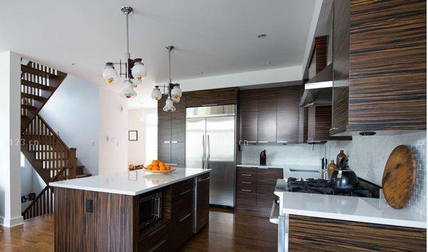 厨房家居风格统一效果图