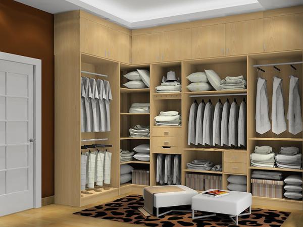 霸气步入式衣柜,让家人过上低奢欧式生活!图片