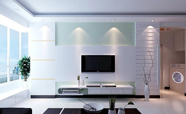 客厅装修背景电视墙v客厅攻略装修工程a客厅用电图片