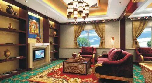 所以,在我们看到的藏式风格装修中,房屋的样式与颜色搭配都无太大的图片