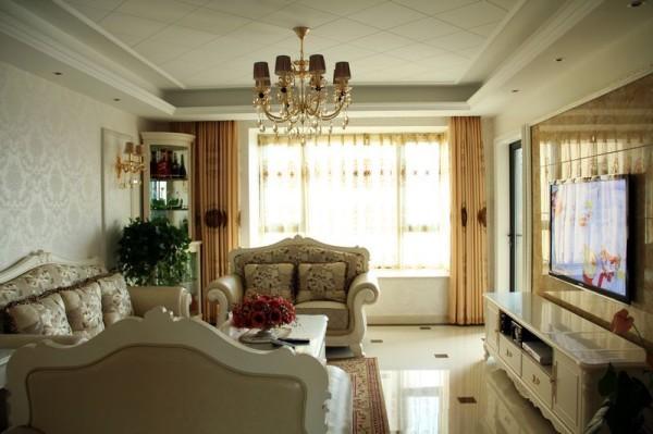 130平米三室两厅简约欧式装修风格实景图