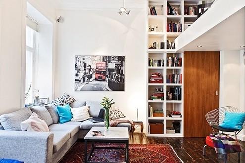 客厅简约北欧宜家收纳屌丝装修效果图片 装修美图 新浪装修家居网看