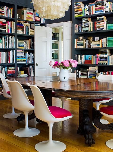 餐桌椅子书架收纳清新装修效果图片 装修美图 新浪装修家居网看图装修