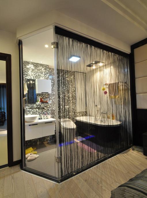 小户型浴室卫生间高富帅简约装修效果图片 装修美图 新浪