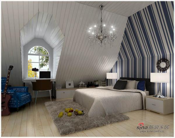 东南亚风格卧室 床头手绘 画效果图 新浪装修抢