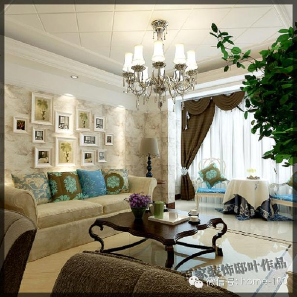 简约欧式客厅装修效果图片 装修美图 新浪装修家居网看图