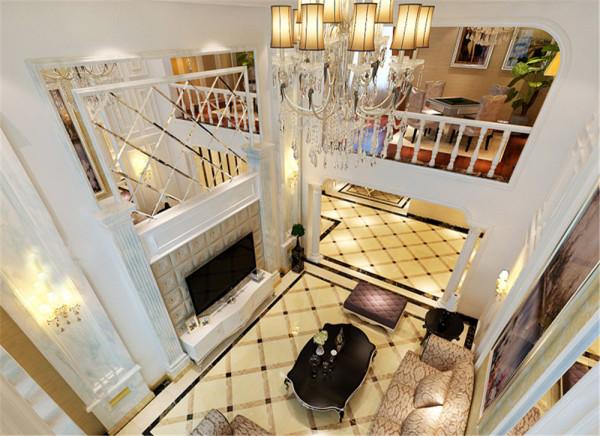 别墅欧式奢华风格客厅装修效果图片 装修美图 新浪装修家