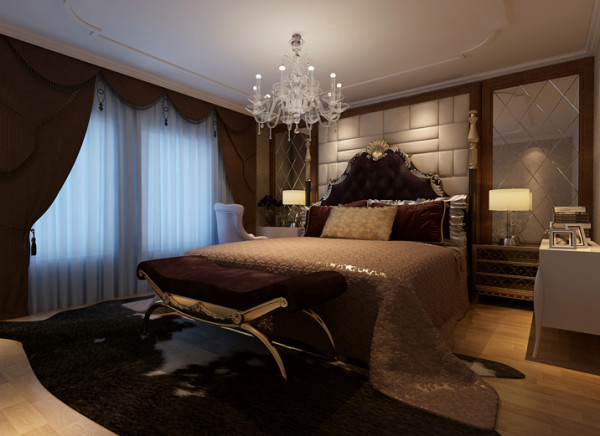欧式别墅奢华大气三居室卧室装修效果图片 装修美图 新浪
