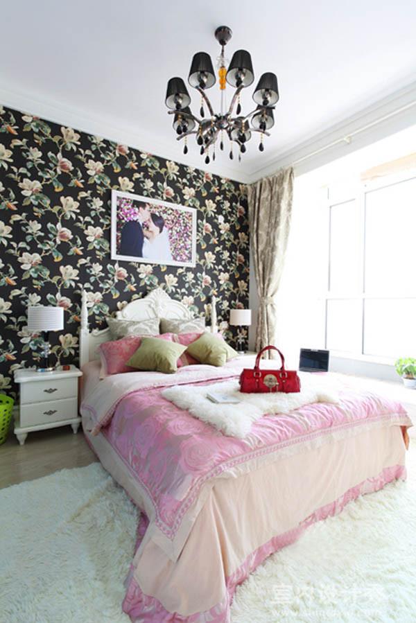 简约一居婚房轻舟装饰旧房改造现代时尚卧室装修效果图片 装修美图