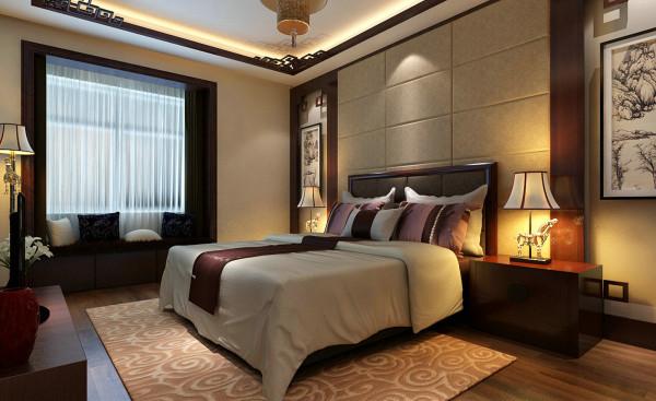 中式四居四房简约老人房卧室装修效果图片 装修美图 新浪装修家居网