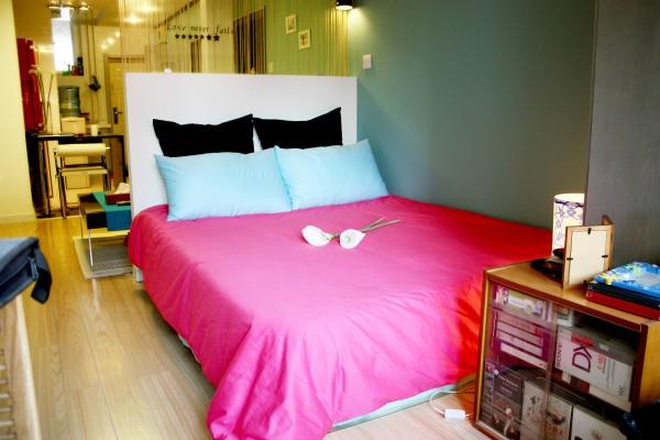 简约一居小户型旧房改造小资80后卧室装修效果图片 装修美图 新浪装
