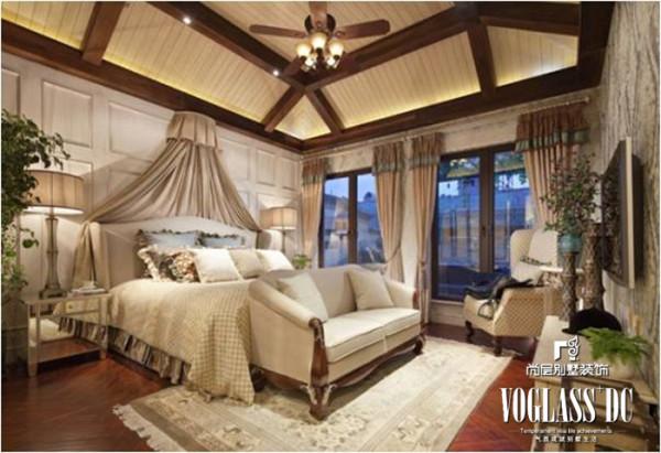 别墅 美式 客厅卧室 衣帽间卫生间 卧室 装修效果图