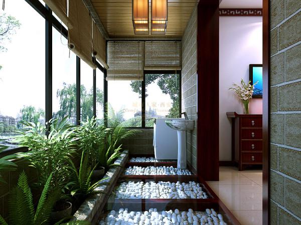中式 现代 三居 古典 文化 阳台图片来自西安城市人家装饰王凯在大宅
