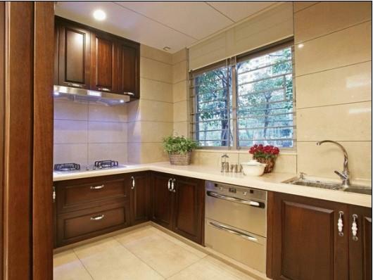 洲装饰翠城馨园简中式风格四居室装修装修公司设计公司厨房设计厨