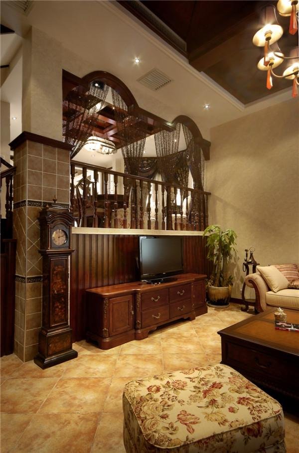 混搭北欧英伦风复古客厅装修效果图片 装修美图 新浪装修家居网看图