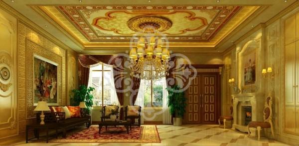 欧式别墅客厅卧室酒吧客厅装修效果图片 装修美图 新浪装修家居网看