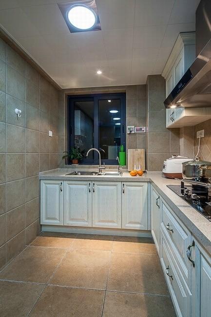 新中式有韵味美式乡村厨房装修效果图片 装修美图 新浪装