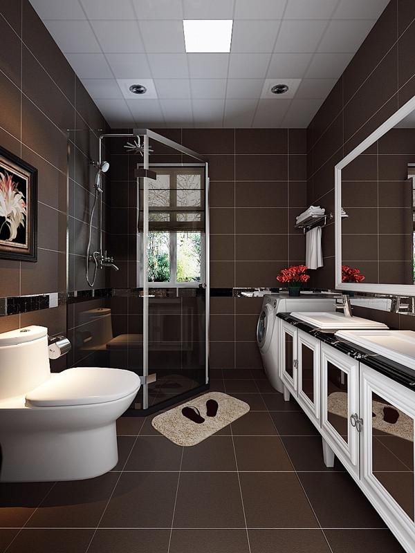 南开两室小户型现代简约业之峰卫生间装修效果图片 装修美图 新浪装
