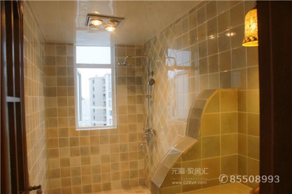 三居乡村美式元度家居汇装修设计卫生间装修效果图片 装修美图 新浪