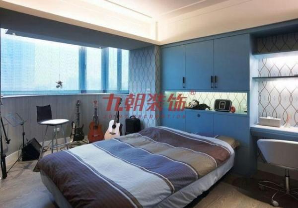 传说两居室现代简约风格,次卧内的装饰以儿童房跟客房 装修美图