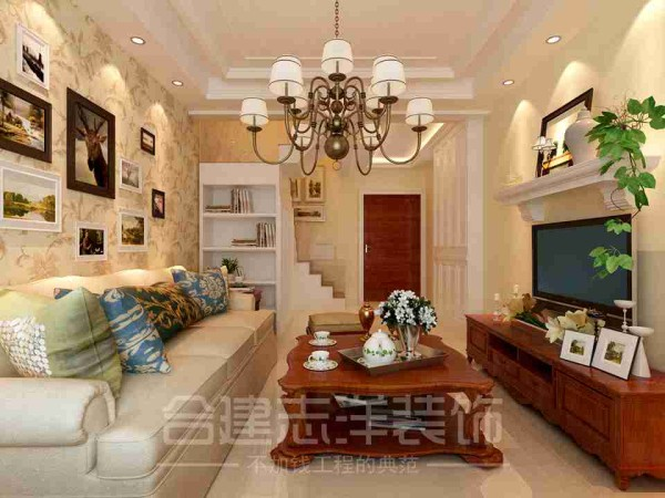 欧式小资白领客厅装修效果图片 装修美图 新浪装修家居网
