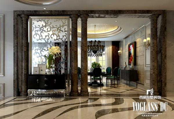 别墅白领新古典风格客厅玄关装修效果图片 装修美图 新浪