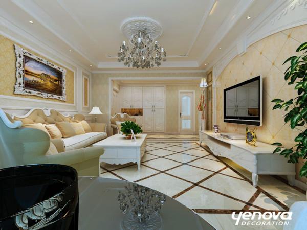 欧式三居业之峰装饰装修案例效果图客厅装修效果图片 装修