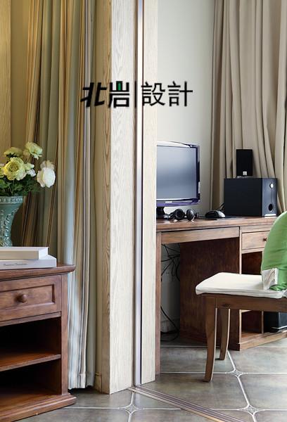 美式乡村阅城国际北岩设计书房装修效果图片 装修美图 新浪装修家居