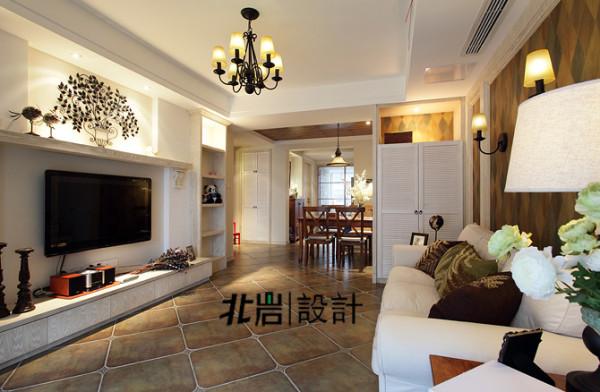 美式乡村阅城国际北岩设计客厅装修效果图片 装修美图 新浪装修家居