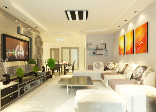 客厅简约欧式田园混搭别墅美式简欧现代装修效果图片 装修