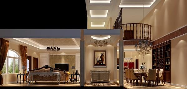 对于门厅的的设计中融入了漂亮大气的石材拼花地面