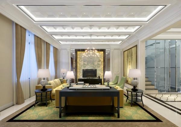三居简约欧式小资旧房改造客厅装修效果图片 装修美图 新浪装修家居
