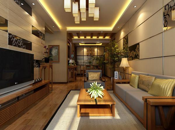 简约中式三居背景墙餐厅装修客厅装修效果图片 装修美图