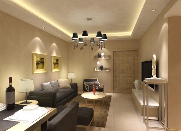 约现代家居生活室内设计家庭装修90平米风水报价客厅装修效果图片