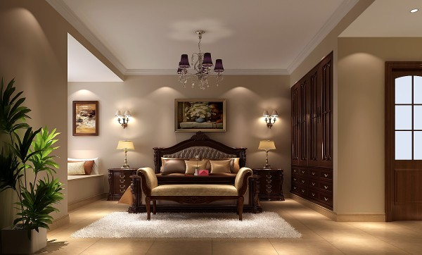 欧式床床头柜衣柜卧室装修效果图片 装修美图 新浪装修家居网看图装修