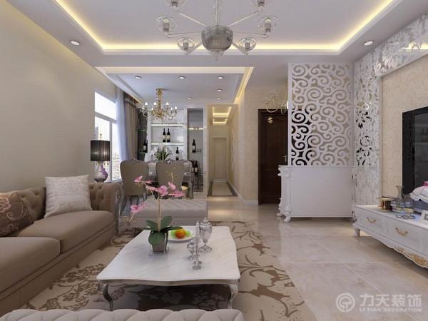 欧式简欧三居白领收纳80后小资客厅装修效果图片 装修美