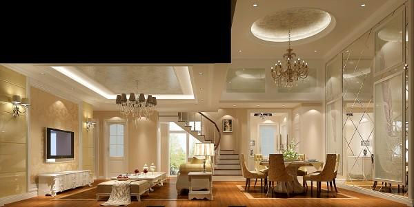 简约欧式三居北京装修装修报价高度国际客厅