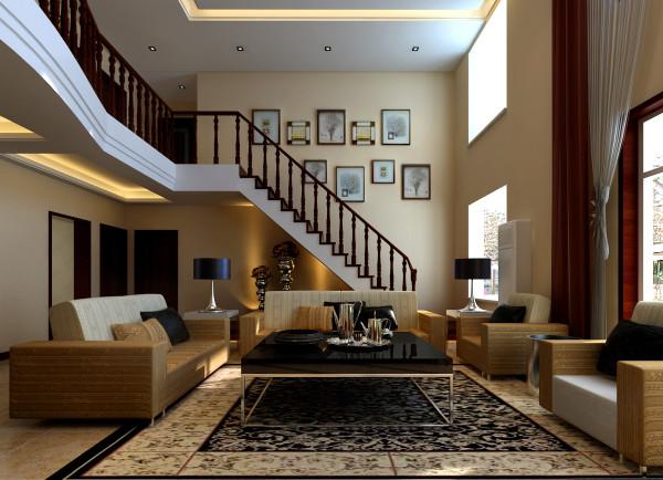 新中式 复式装修 四居 逸品香山 别墅装修 楼梯图片来自超凡装饰季