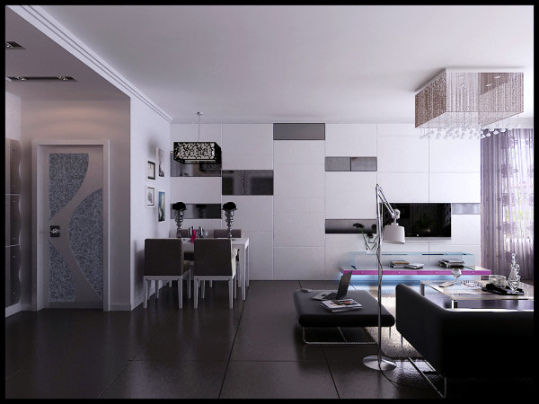 简约现代家庭装修二居广州装修室内设计家居风水生活餐厅