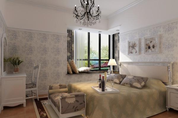 紫荆尚都100平美式田园风格 卧室效果图