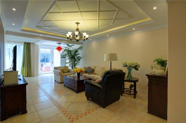 简约欧式别墅80后客厅装修效果图片 装修美图 新浪装修家