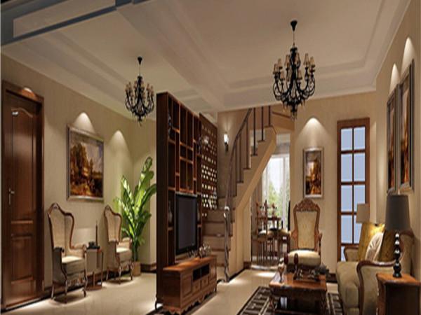 顶层复式别墅设计别墅装修混搭风格客厅装修效果图片 装修美图 新浪