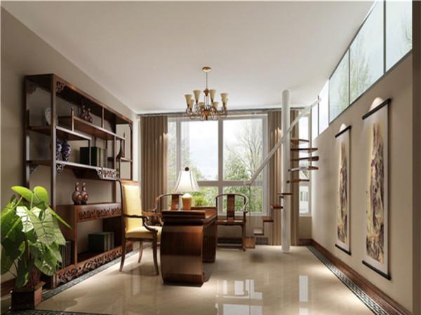 顶层复式别墅设计别墅装修混搭风格书房装修效果图片 装修美图 新浪