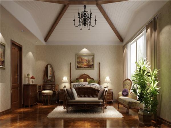 顶层复式别墅设计别墅装修混搭风格卧室装修效果图片 装修美图 新浪