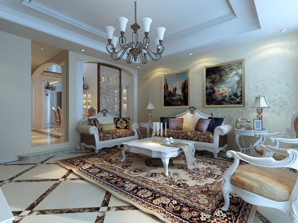 简约欧式别墅客厅装修效果图片 装修美图 新浪装修家居网