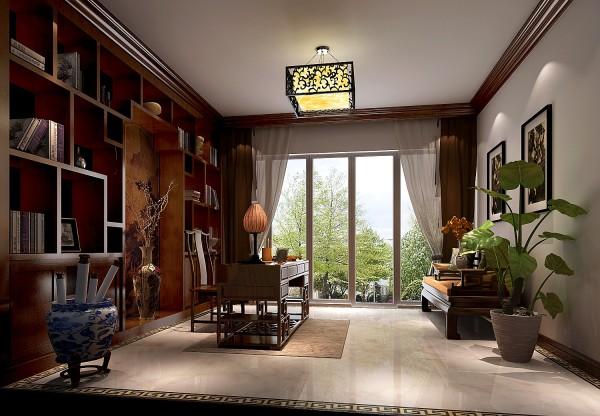 新中式平层三居书房装修效果图片 装修美图 新浪装修家居网看图装修