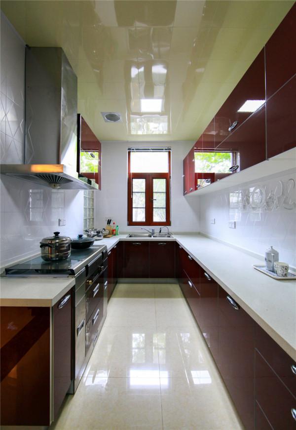 别墅装修 实景 华侨城 别墅 新中式 厨房图片来自奥邦装饰